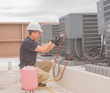 Air Conditioner Repair on roof